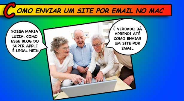 Como enviar um site por email utilizando o Safari do Mac