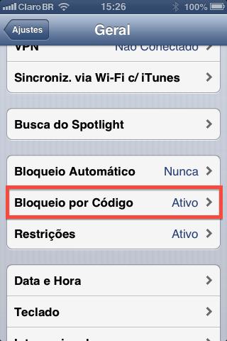 como configurar senha de acesso no ipad iphone e iPod touch-2
