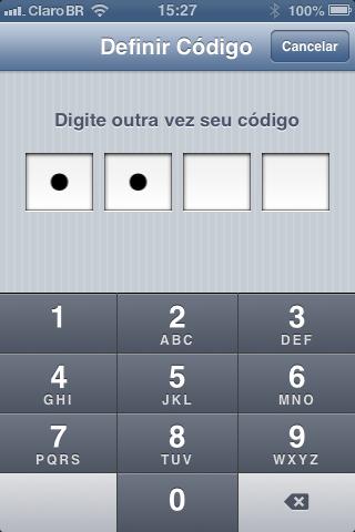 como configurar senha de acesso no ipad iphone e iPod touch-4