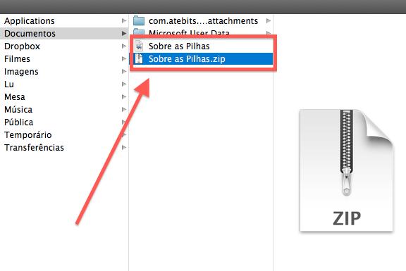 Como compactar, zipar e armazenar arquivos e pastas no Mac