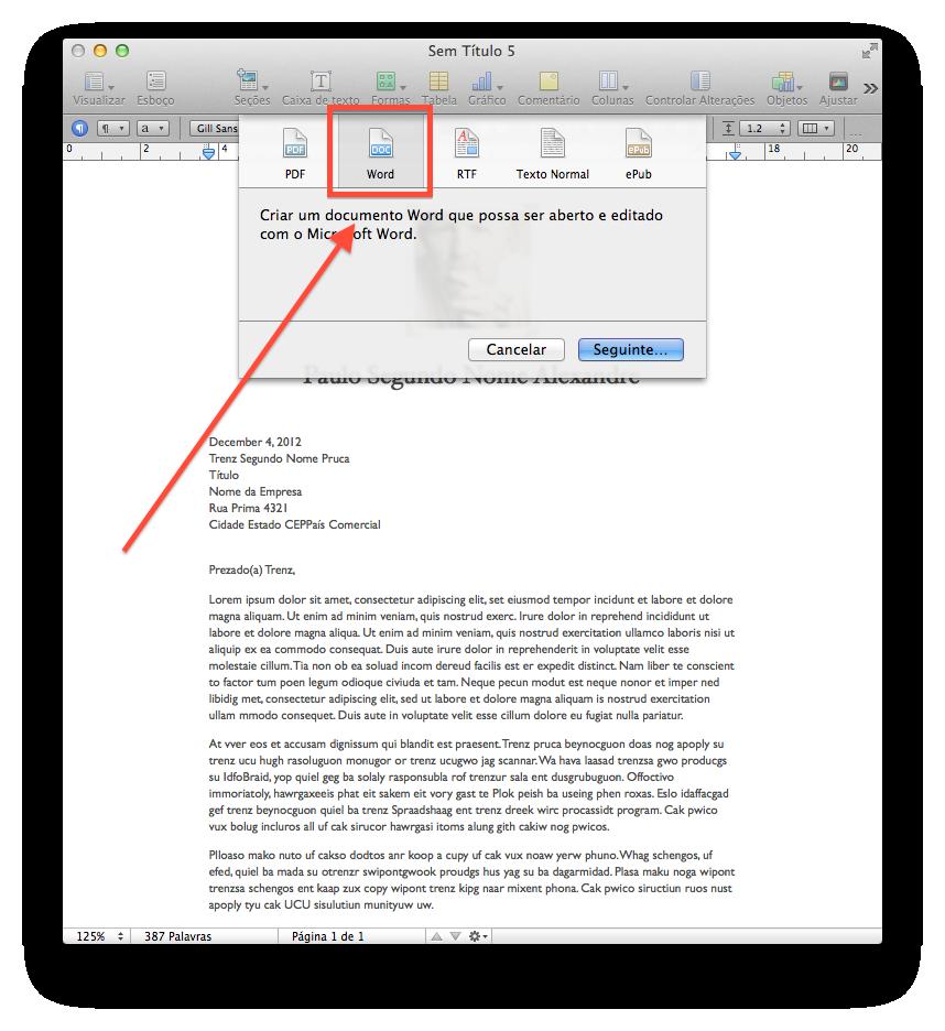 Como compartilhar arquivos no Pages