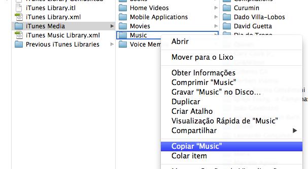 Como fazer backup da biblioteca do iTunes