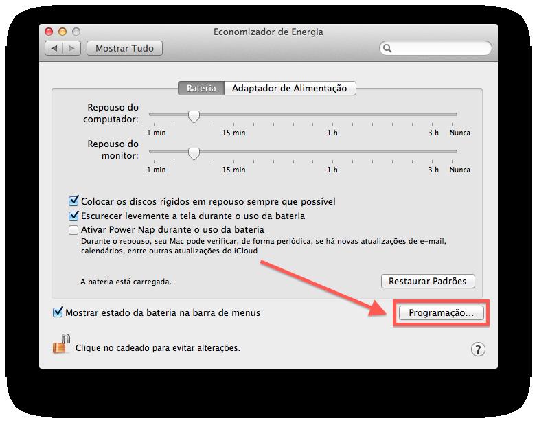 Como programar seu Mac para ligar e desligar automaticamente