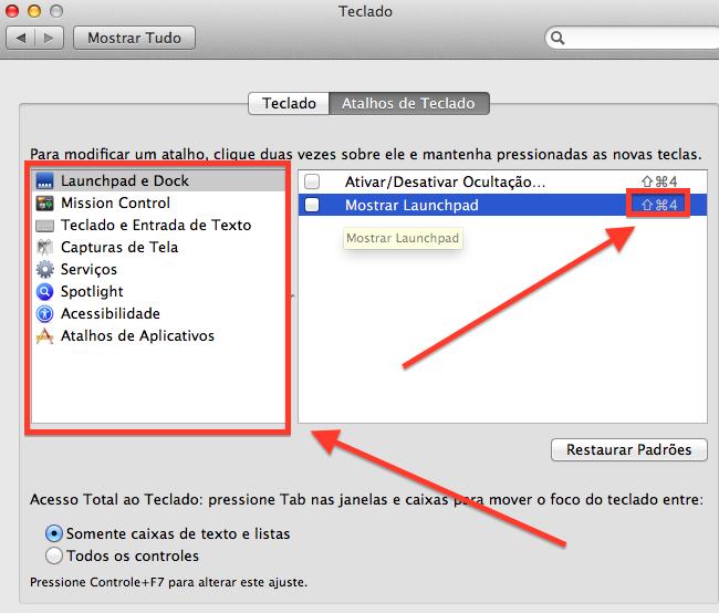 Como usar a tecla Control do teclado do Mac