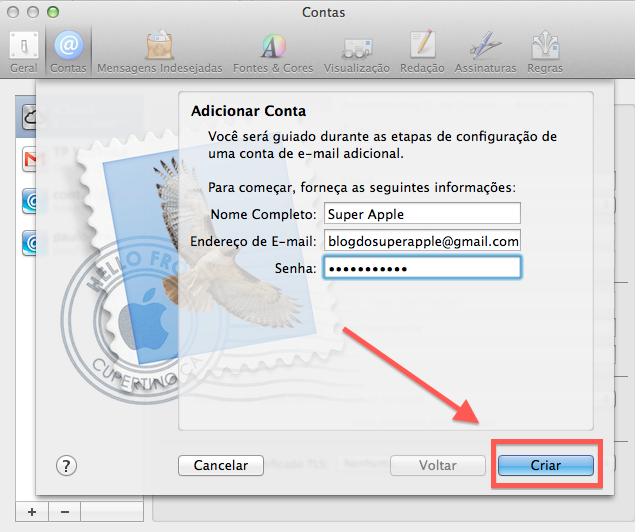 Como usar o Gmail no Mac