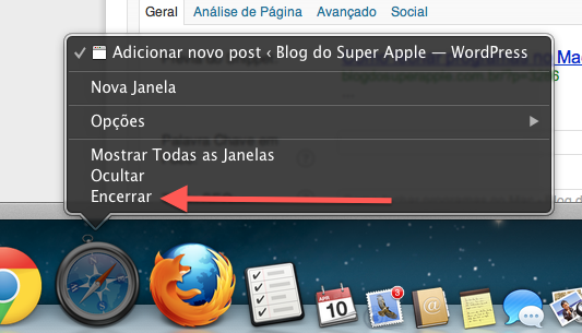 como fechar programas no mac