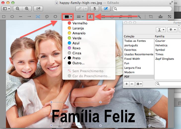 Como adicionar textos em fotos no Mac