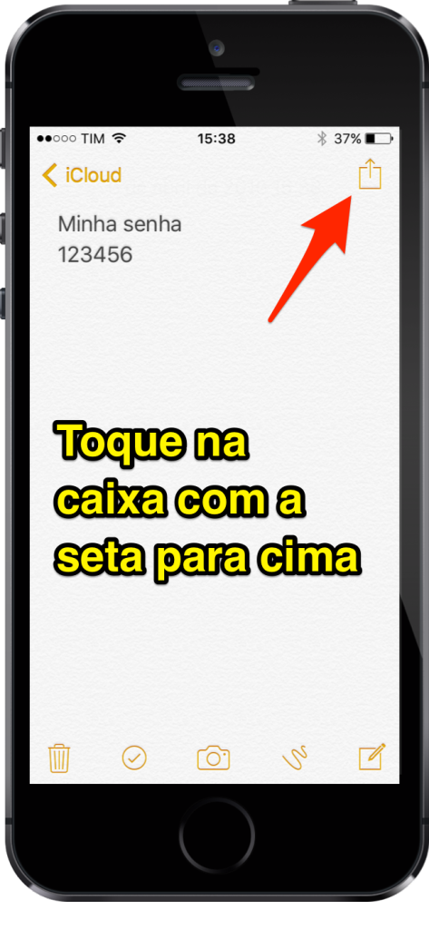 [Super Dica] Aprenda Como Inserir Senhas em Notas do iPhone - 2