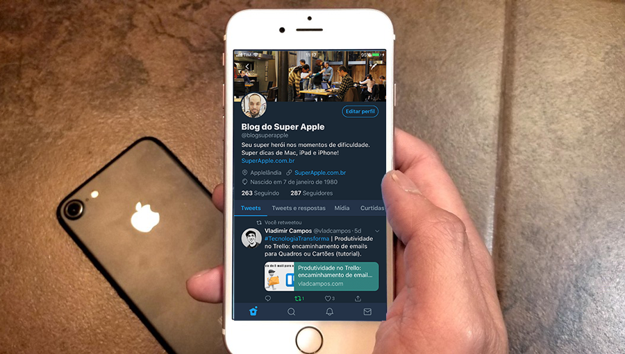 Ative o Modo Noturno no Twitter do iPhone e iPad